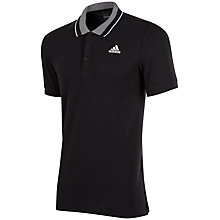 Buy Adidas Essentials Polo Shirt, Black Online at johnlewis.com