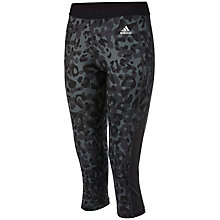 Buy Adidas Infinite Series Techfit Capri Training Pants, Dark Grey Online at johnlewis.com