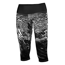 Buy Adidas Infinite Series Techfit City Print Capri Running Tights, Black/Grey Online at johnlewis.com