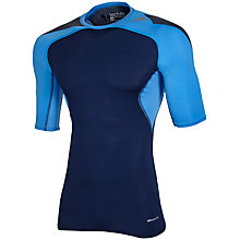 Buy Adidas Techfit Cool T-Shirt, Navy Blue Online at johnlewis.com
