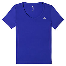 Buy Adidas CLIMA Essential V-Neck T-Shirt Online at johnlewis.com