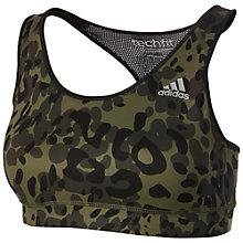 Buy Adidas Techfit Animal Print Sports Bra Online at johnlewis.com