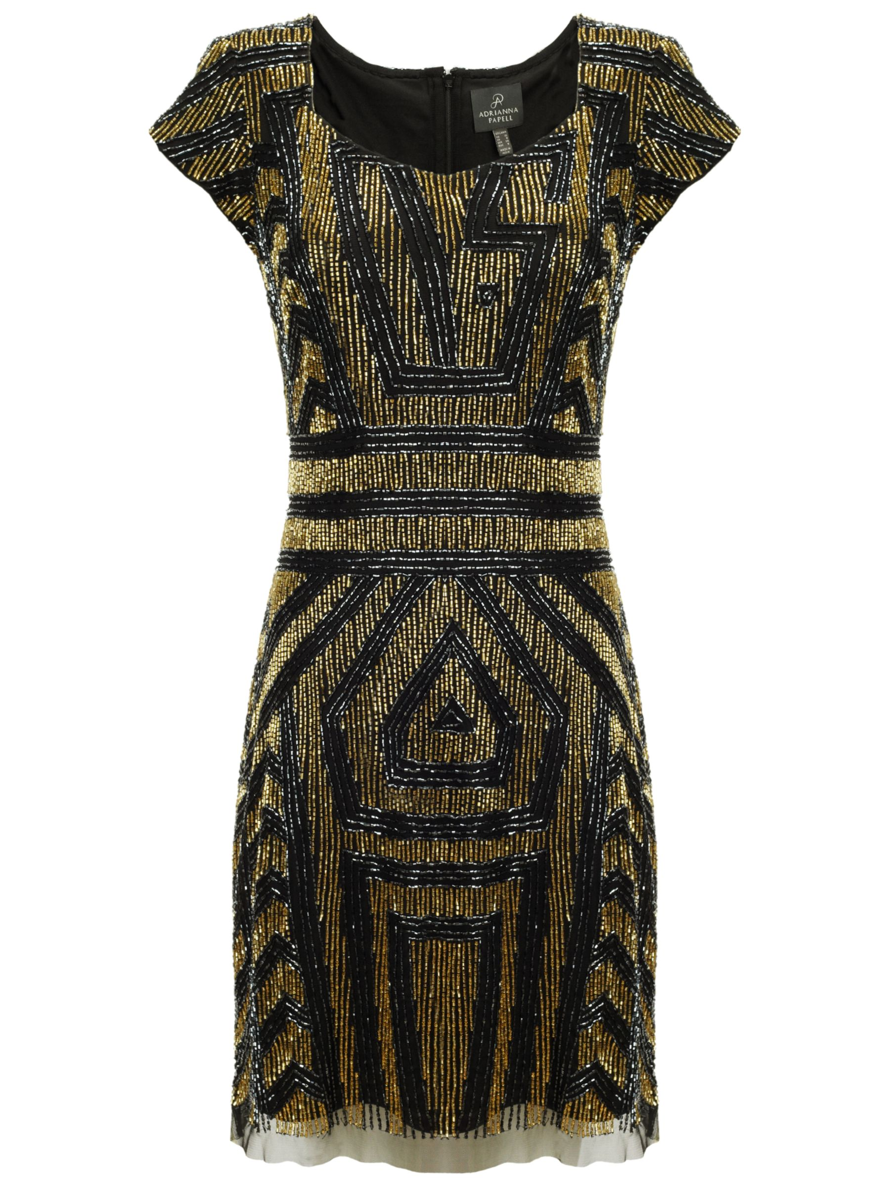 adrianna papell beaded cap sleeve dress black/gold, adrianna, papell, beaded, cap, sleeve, dress, black/gold, adrianna papell, clearance, womenswear offers, womens dresses offers, new years party offers, women, plus size, inactive womenswear, new reductions, brands a-k, womens dresses, special offers, edition magazine, embellishment, eveningwear offers, 1741187