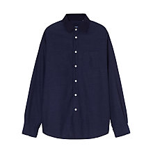 Buy Jigsaw Cotton Blend Shirt, Indigo Online at johnlewis.com