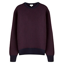 Buy Jigsaw Nordic Houndstooth Wool Jumper, Claret/Navy Online at johnlewis.com