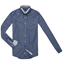 Buy Tommy Hilfiger Floral Print Long Sleeve Shirt, Indigo/ Cashmere Blue Online at johnlewis.com