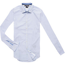 Buy Tommy Hilfiger William Fine Stripe Cotton Shirt, Classic White Online at johnlewis.com