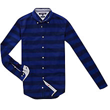 Buy Tommy Hilfiger Long Sleeved Striped Cotton Shirt, Navy Blazer Online at johnlewis.com