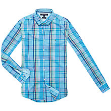 Buy Tommy Hilfiger Aiden Long Sleeve Cotton Shirt, Maui Blue Online at johnlewis.com