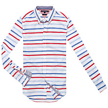 Buy Tommy Hilfiger Lewisburg Long Sleeve Slim Shirt, White/Blue/Red Online at johnlewis.com