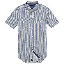Buy Tommy Hilfiger Ray Short Sleeve Stripe Shirt, Indigo/Snow White Online at johnlewis.com