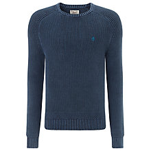 Buy Original Penguin Shaker Stitch Acid Wash Jumper, Blue Online at johnlewis.com