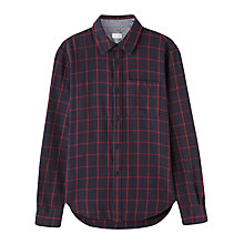 Buy Jigsaw Window Pane Check Shirt, Navy/Red Online at johnlewis.com