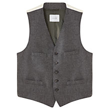 Buy Jigsaw Speckled Check Wool Waistcoat, Grey Online at johnlewis.com