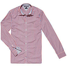 Buy Tommy Hilfiger Romus Striped Cotton Shirt, Barbados Cherry Online at johnlewis.com