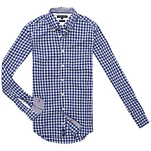 Buy Tommy Hilfiger Varrick Checked Cotton Shirt, Blueprint/Dazzling Blue Online at johnlewis.com