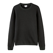 Buy Jigsaw Houndstooth Crew Neck Wool Jumper, Grey/Black Online at johnlewis.com