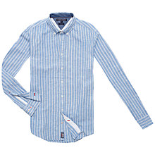 Buy Tommy Hilfiger Abia Striped Long Sleeve Shirt, Shirt Blue/Classic White Online at johnlewis.com