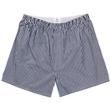Buy Sunspel Classic Woven Boxers, Navy Online at johnlewis.com