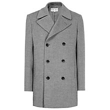 Buy Reiss Clooney Double Breasted Coat, Grey Online at johnlewis.com
