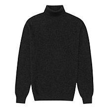 Buy Reiss Swan Cashmere Roll Neck Jumper, Charcoal Online at johnlewis.com