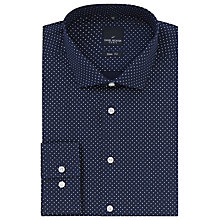 Buy Daniel Hechter Polka Dot Slim Fit Shirt, Navy/White Online at johnlewis.com