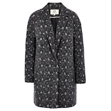 Buy Viyella Bonded Lace Coat, Grey Online at johnlewis.com