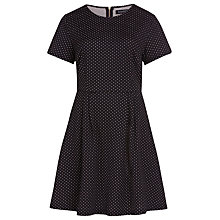 Buy Sugarhill Boutique Irene Spot Fit And Flare Dress, Black/Cream Online at johnlewis.com