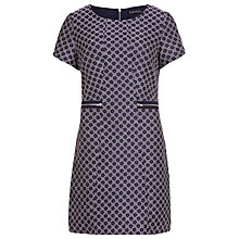 Buy Sugarhill Boutique Dora Flower Jacquard Dress, Navy Online at johnlewis.com