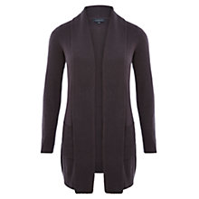 Buy Viyella Ribbed Placket Cardigan, Carbon Online at johnlewis.com