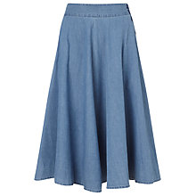 Buy Collection WEEKEND by John Lewis Full Skirt, Chambray Online at johnlewis.com