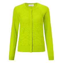 Buy Collection WEEKEND by John Lewis Lace Pointelle Crew Cardigan, Lime Online at johnlewis.com