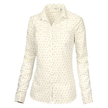 Buy Fat Face Pretty Mini Bud Shirt, Ivory Online at johnlewis.com