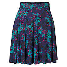 Buy Fat Face Jersey Forget Me Not Skirt, Navy Online at johnlewis.com