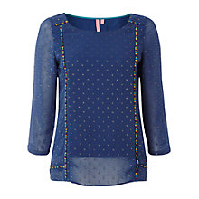 Buy White Stuff Roma Top, Irish Blue Online at johnlewis.com