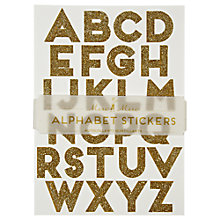 Buy Meri Meri Alphabet Stickers, Gold Online at johnlewis.com