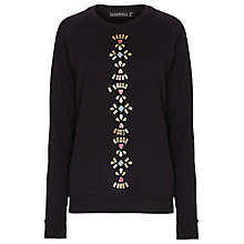 Buy Sugarhill Boutique Jewel Cotton Jumper, Black Online at johnlewis.com