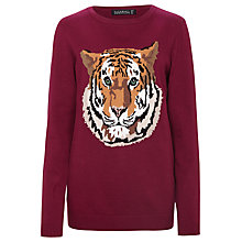 Buy Sugarhill Boutique Cotton Tiger Jumper, Mulberry Online at johnlewis.com