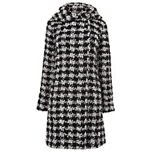 Buy Phase Eight Dalia Dogtooth Coat, Cream/Black Online at johnlewis.com