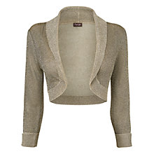 Buy Phase Eight Anika Shimmer Bolero, Antique Gold Online at johnlewis.com