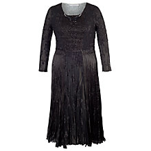 Buy Chesca Lurex Crush Pleated Dress, Black Online at johnlewis.com