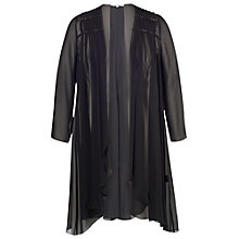 Buy Chesca Beaded Trim Chiffon Coat, Black Online at johnlewis.com