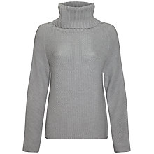 Buy Jaeger Wool Mix Knit Sweater, Light Grey Melange Online at johnlewis.com