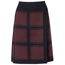 Buy Phase Eight Kirstie Check Skirt, Navy/Wine Online at johnlewis.com