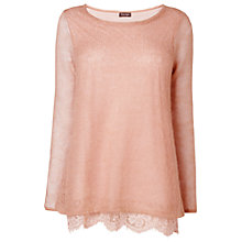 Buy Phase Eight Liz Lace Trim Jumper, Dusty Pink Online at johnlewis.com