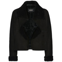 Buy Jaeger Sheepskin Short Jacket, Black Online at johnlewis.com