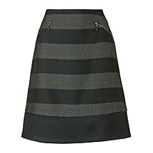 Buy Phase Eight Sapphire Striped Skirt, Navy/Charcoal Online at johnlewis.com