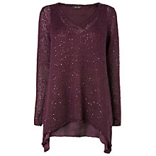 Buy Phase Eight Esi Sequin Jumper, Port Online at johnlewis.com