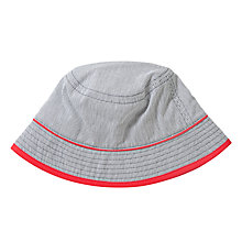 Buy John Lewis Boy Ticking Stripe Hat, Blue/White Online at johnlewis.com