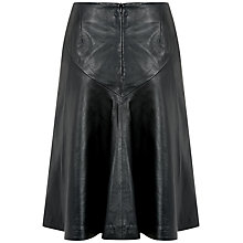 Buy Fenn Wright Manson Heidi Leather Skirt, Black Online at johnlewis.com